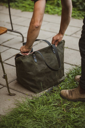 Travel bag in waxed canvas - Frontenac