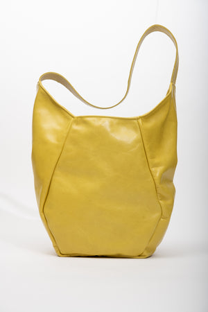 Veinage Mont-Royal yellow leather tote bag