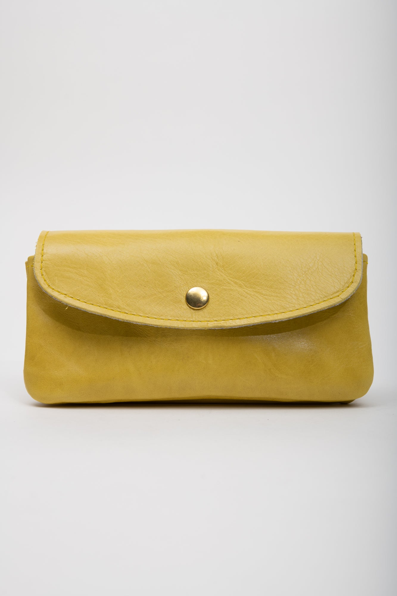 Veinage Minimalist yellow leather wallet MARQUETTE model