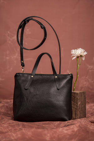 Leather handbag bag - Iberville