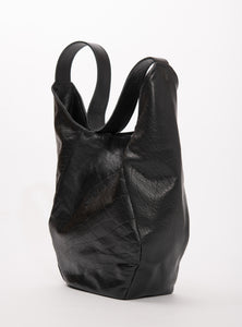 Veinage Mont-Royal black leather tote bag