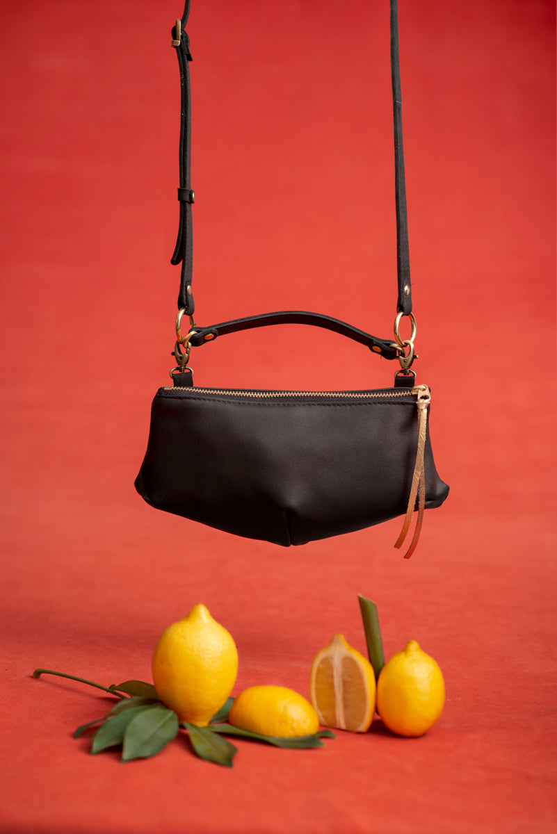 CITRON leather fanny pack