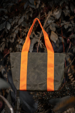 Waxed canvas tote bag - Rosemont