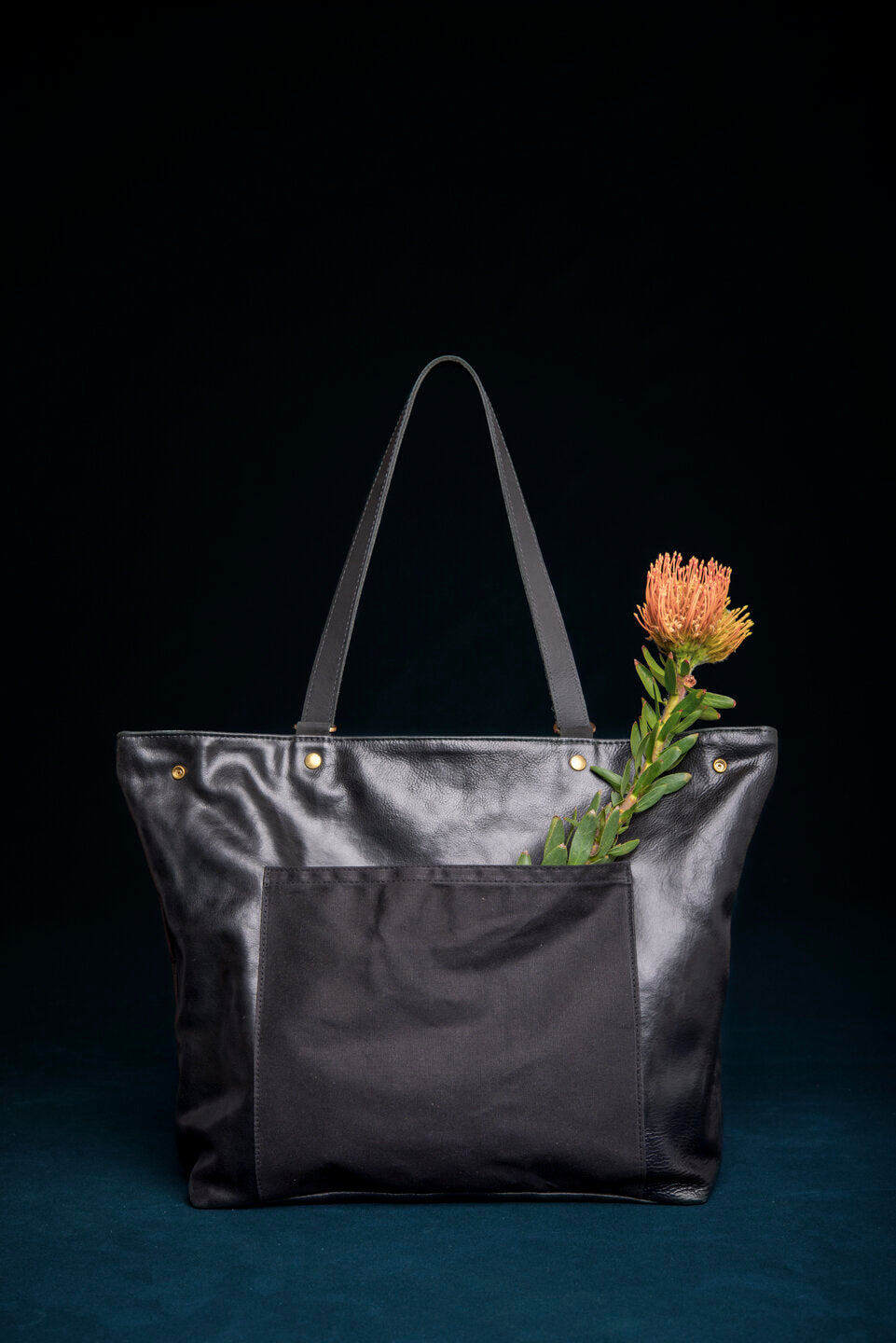 MASSON leather and waxed canvas tote bag convertible to back pack