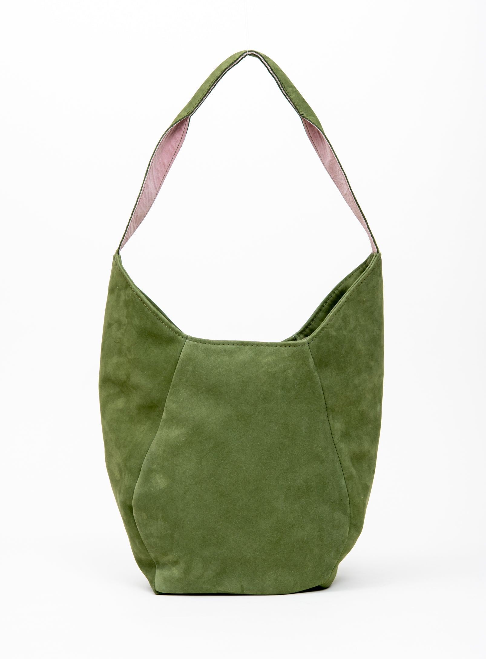 Geometrical leather tote bag MONT-ROYAL model