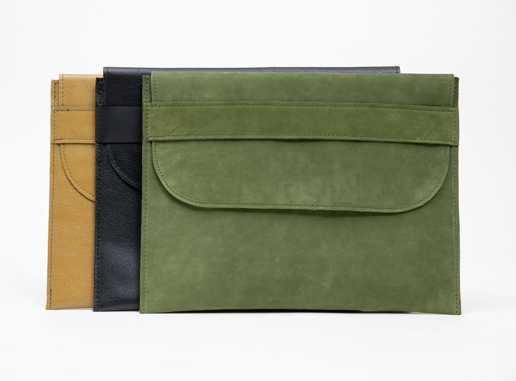 Veinage Leather laptop sleeve CINQUE TERRE model