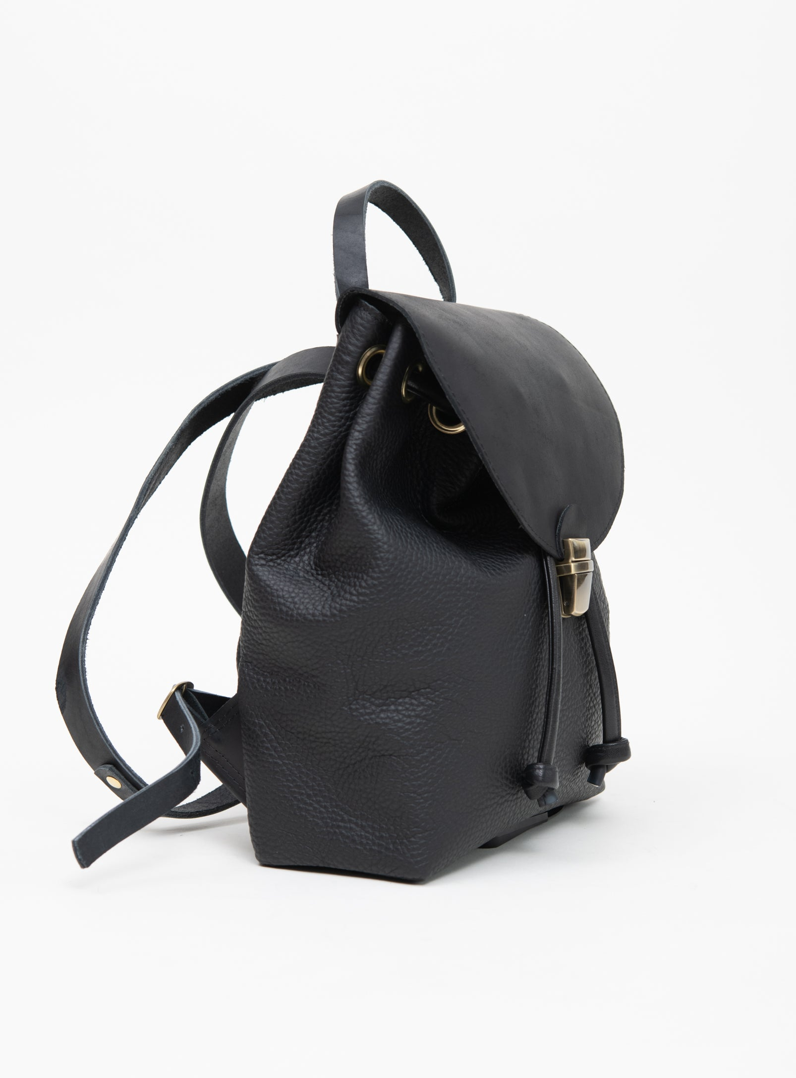 Leather rucksack MILAN model Small