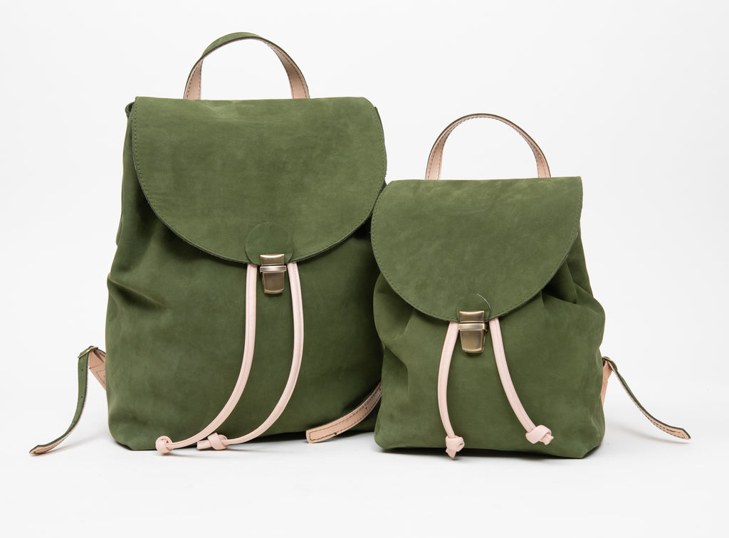 Suede leather rucksack MILAN model Small and Large
