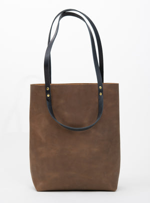 Veinage Molson brown leather minimalist tote bag