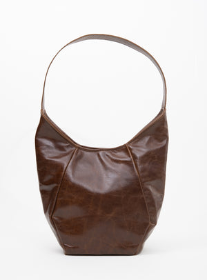 Veinage Mont-Royal cognac leather tote bag