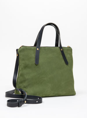 Veinage Suede leather handbag with crossbody strap IBERVILLE model