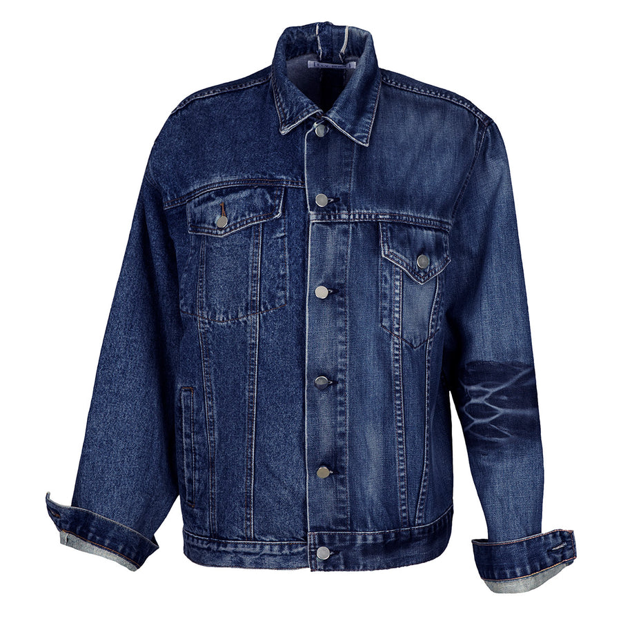 Mens Dark Blue Match Jacket