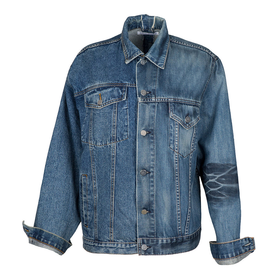 Mens Mid Blue Match Jacket