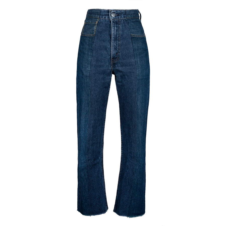 Dark Blue Match Flare Jean