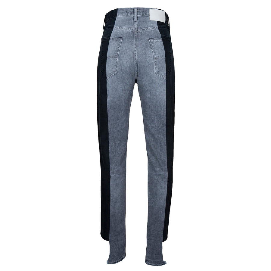 Black / Grey Contrast Straight Leg Jean