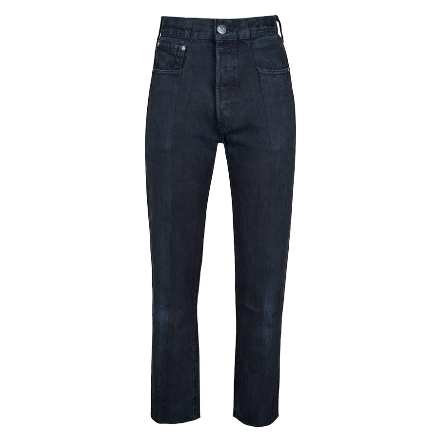 Black Match Straight Leg Jean