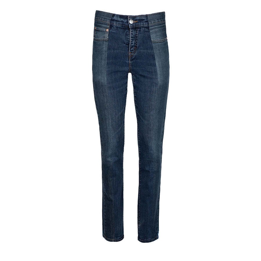 Dark Blue Match Straight Leg Jean