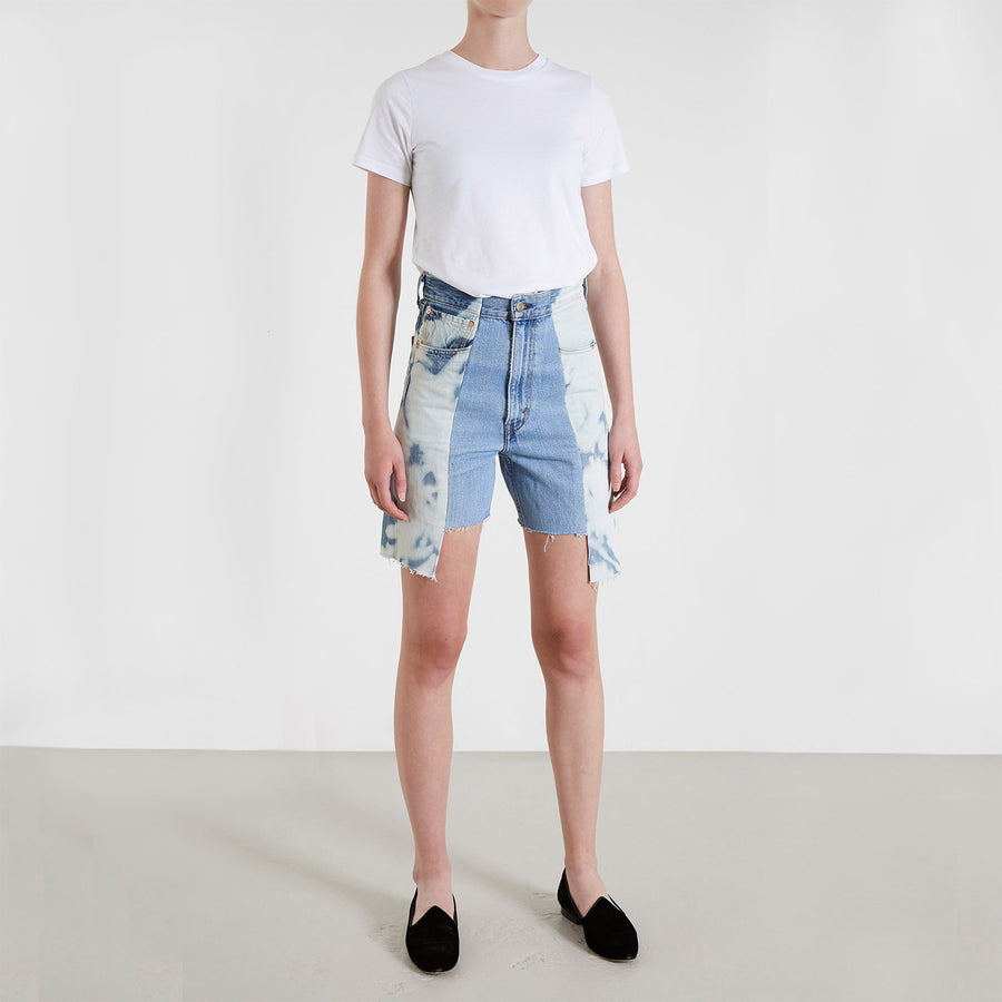 Bleach / Light Blue Contrast Short