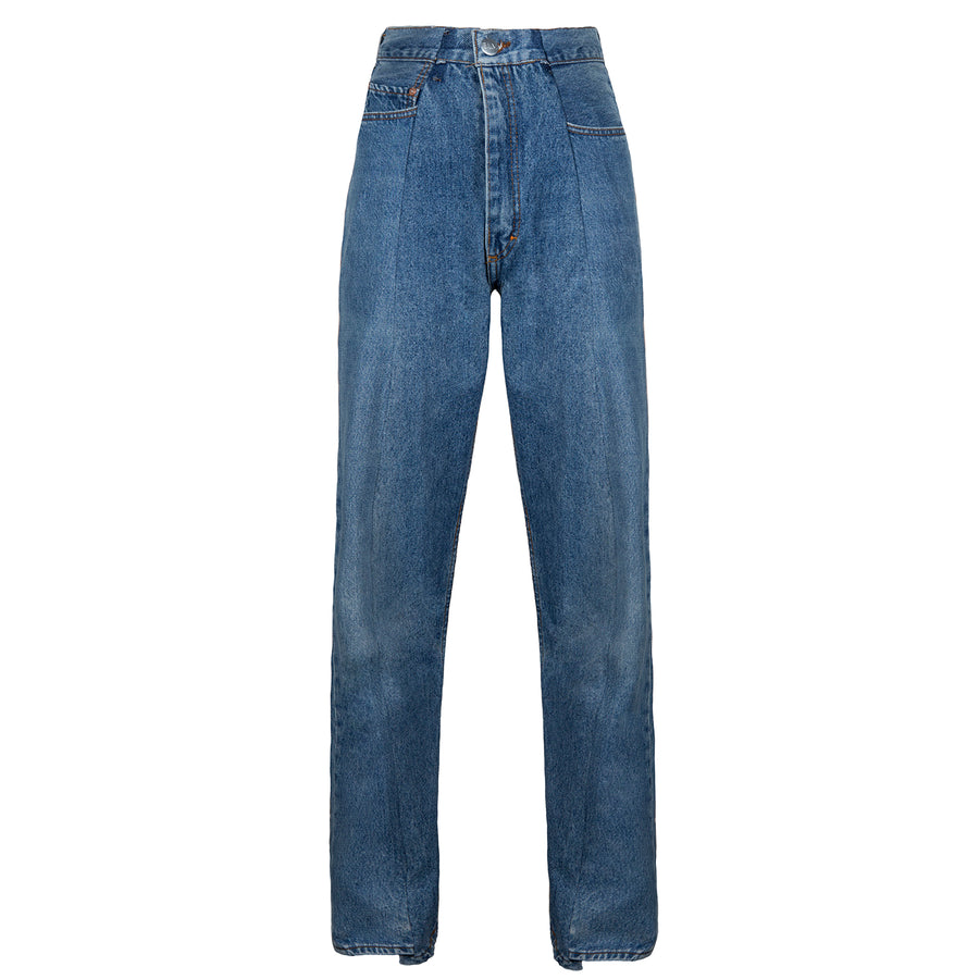 Mid Blue Match Boyfriend Jean