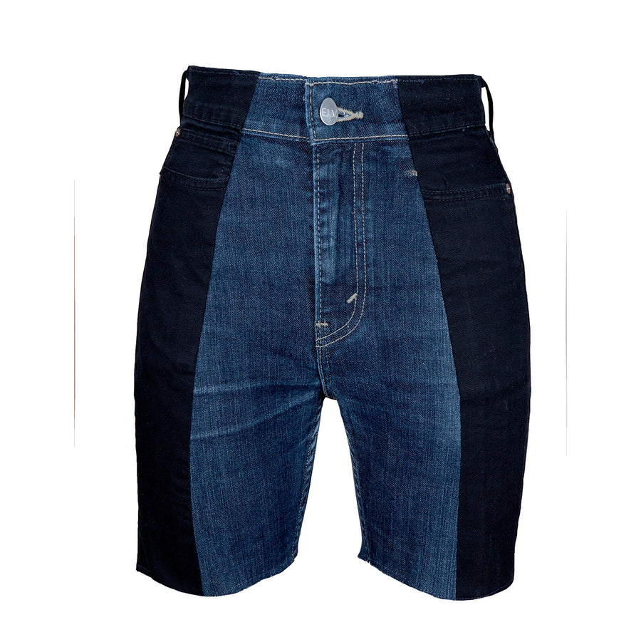 Black / Dark Blue Contrast Short