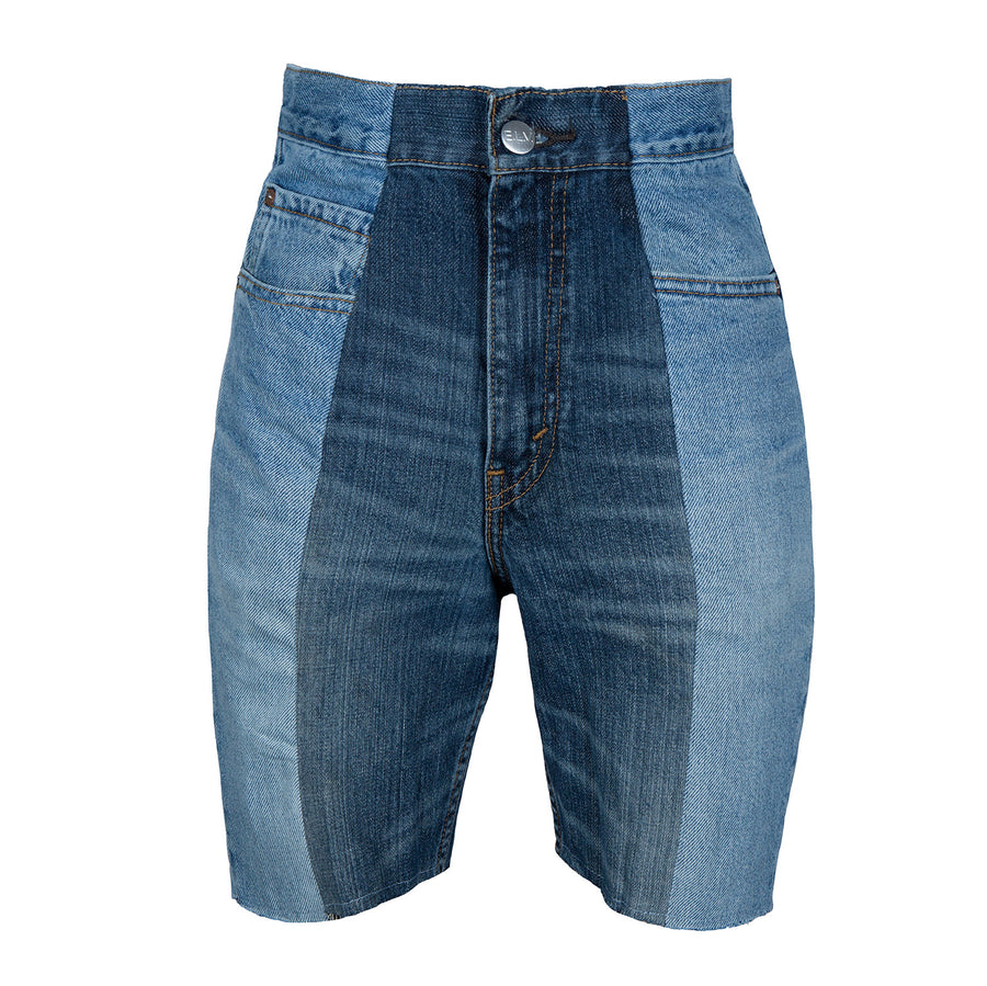 Mid Blue / Dark Blue Contrast Short
