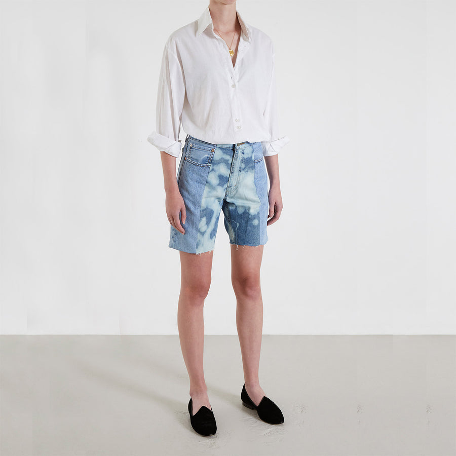 Light Blue / Bleach Contrast Short