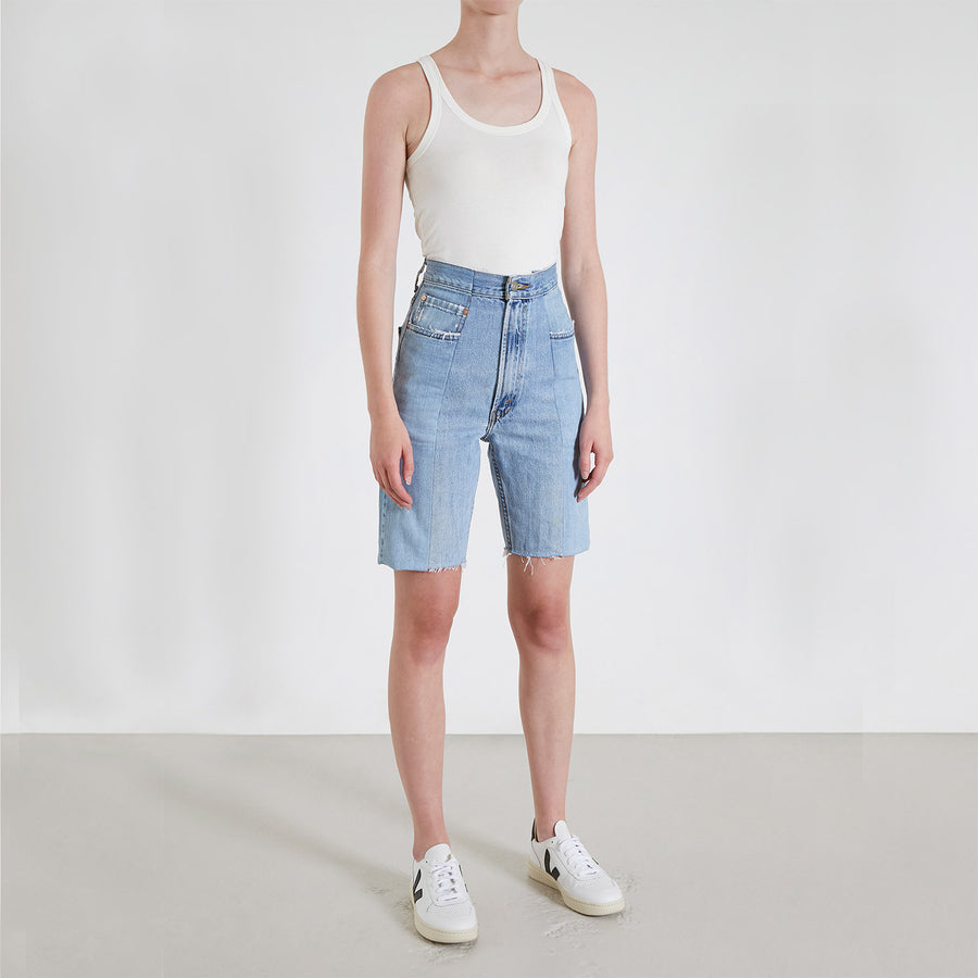 Light Blue Match Short