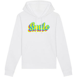 Sweat-shirt bio smile blanc