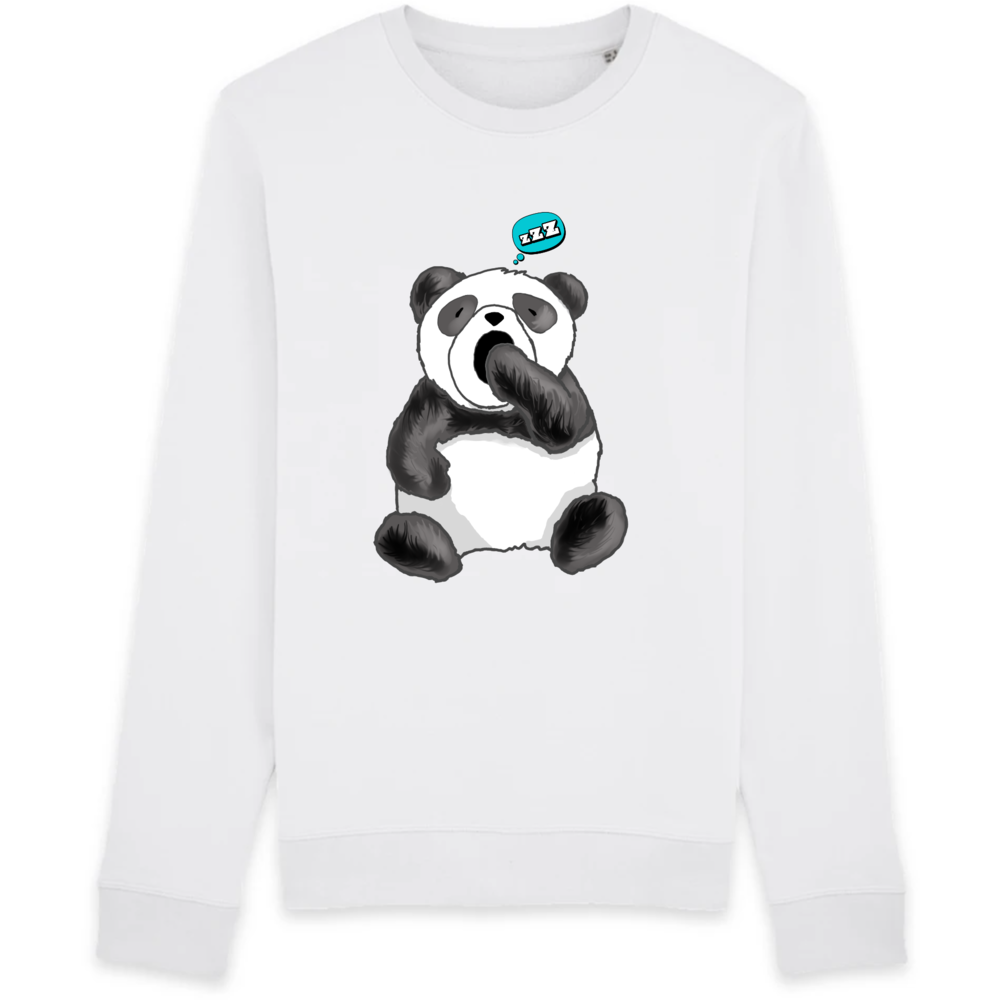 sweat-shirt-bio-panda-manga-kawaii-gots-durable-ethique-blanc