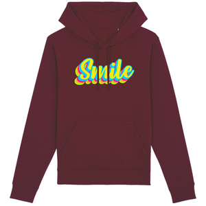 Sweat-shirt bio smile bordeaux