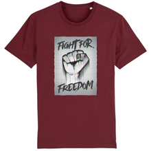 Charger l'image dans la galerie, tee-shirt-bio-art-street-coton-couleur-eco-responsable-ethique-fight-for-freedom-bordeaux