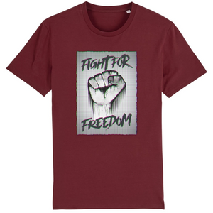 tee-shirt-bio-art-street-coton-couleur-eco-responsable-ethique-fight-for-freedom-bordeaux