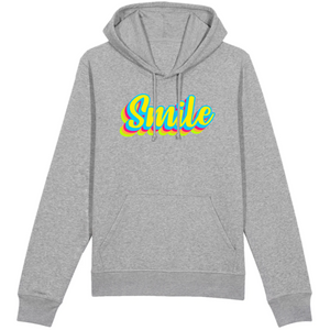 Sweat-shirt bio smile gris