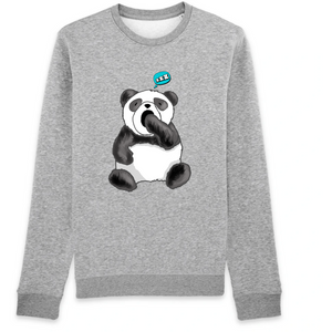 sweat-shirt-bio-panda-manga-kawaii-gots-durable-ethique--gris