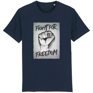 tee-shirt-bio-art-street-coton-couleur-eco-responsable-ethique-fight-for-freedom-marine
