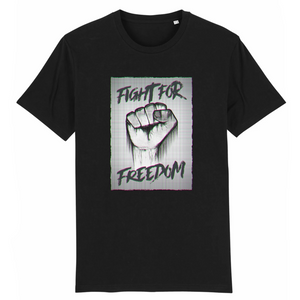tee-shirt-bio-art-street-coton-couleur-eco-responsable-ethique-fight-for-freedom-noir