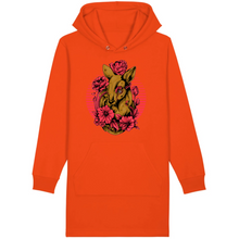 Charger l'image dans la galerie, robe-sweat-shirt-bio-original-tatouage-biche-orange