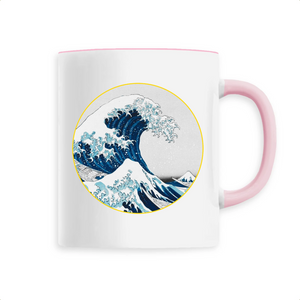 Mug vague céramique rose