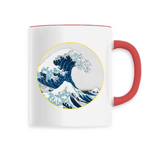 Mug vague céramique rouge