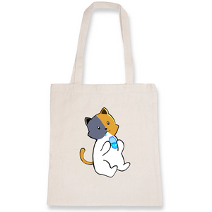 Totebag 100% coton bio chat kawaii