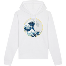 Charger l'image dans la galerie, sweat-shirt vague surf blanc homme bio éthique