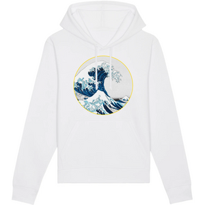 sweat-shirt vague surf blanc homme bio éthique