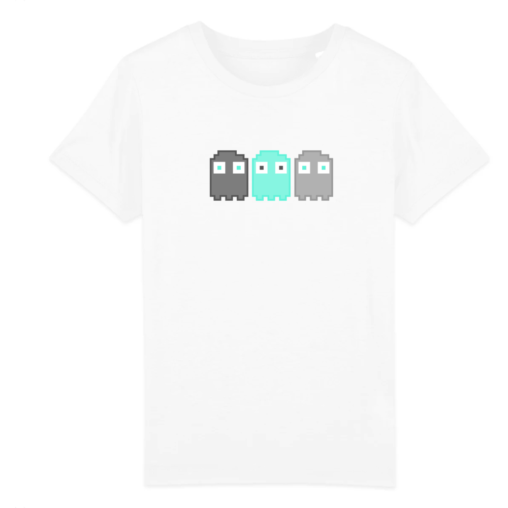tee-shirt-bio-enfant-pixel-fantome-jeux-video-blanc