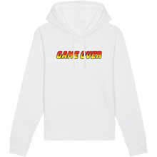 Charger l'image dans la galerie, Sweat-shirt bio geek game over blanc
