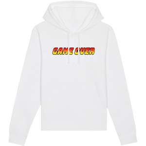 Sweat-shirt bio geek game over blanc