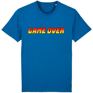 T-shirt homme coton bio game over bleu