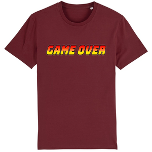 T-shirt homme coton bio game over bordeaux