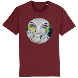 T-shirt homme original bio monster bordeaux