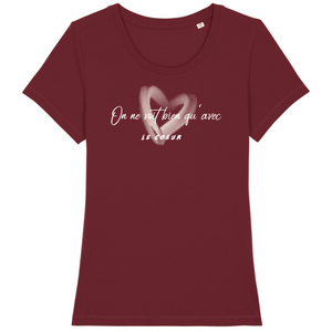 tee-shirt-bio-message-coton-citation-femme-bordeaux