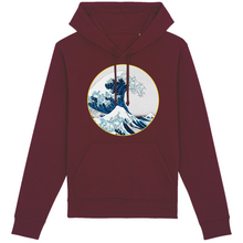 Charger l'image dans la galerie, sweat-shirt vague surf bordeaux homme bio éthique